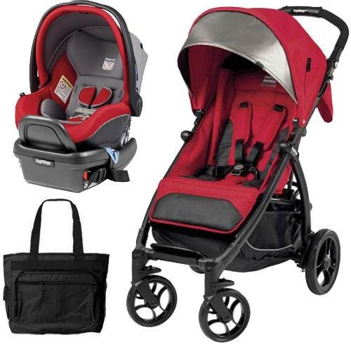 Peg Perego - Booklet Stroller Travel System with Diaper Bag - Tulip by Peg Perego