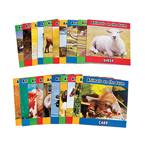 Fun Express - Farm Animal Readers (20pc) - Educational - Teaching Aids - Reading - 20 Pieces ()