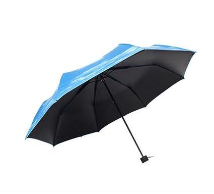 JCRNJSB® Sombrillas, protección solar anti-UV sombra encantadora paraguas negro flores de cerezo