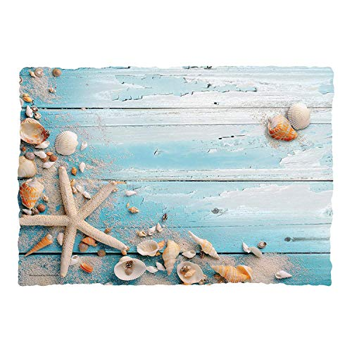 (Hoffmaster Seaside by The Seashore Beach Seashells Paper Placemats | 50 per Pack)