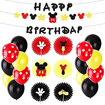 Amazon.com: BeYumi Mickey Mouse Kit de decoración de fiesta ...