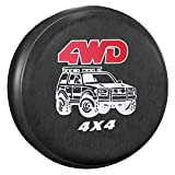 AmFor Spare Tire Cover, Universal Fit for Jeep, Trailer, RV, SUV, Truck and Many Vehicle, Wheel Diameter 28' - 29', Weatherproof Tire Protectors (Four-Wheel Drive)