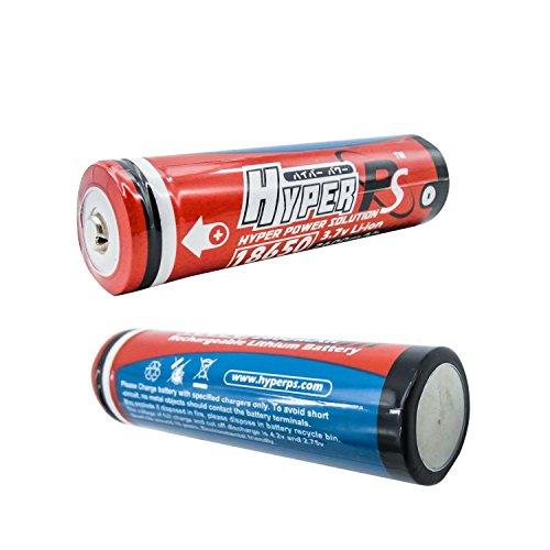HyperPS (2-Packs) 18650 2600mAh 3.7V Li-ion Rechargeable Battery Replacement for Flashlight E-Bike Portable Fan Speaker Power Bank