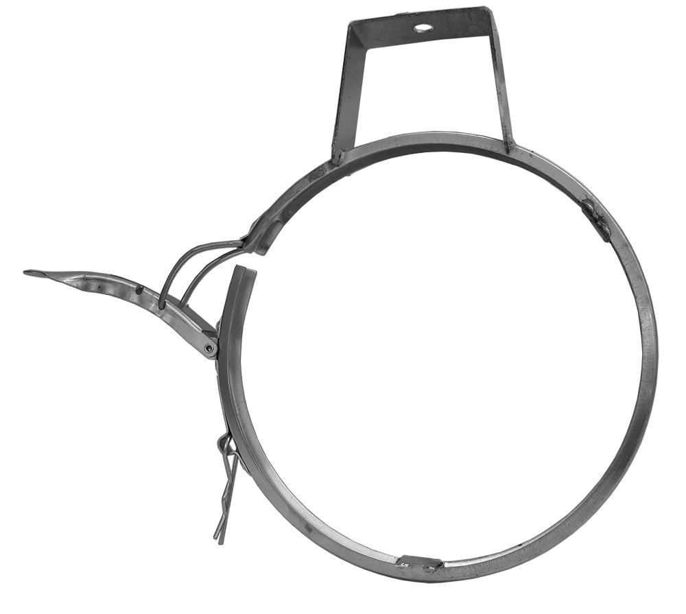 Nordfab 3265-0800-1QF000 Ducting Qf Clamp Hanger, 8'' Dia, Galvanized Steel