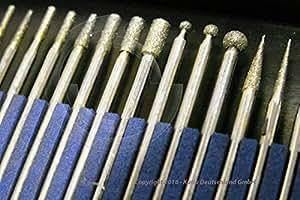 20 pzas. Cuchillas de diamante para Dremel y Proxxon vástago de diámetro 2,35 mm