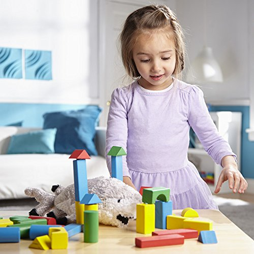 Melissa & Doug Wooden Building Blocks Set (Developmental
