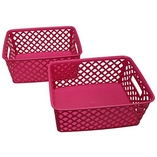 Starplast Small Deco Storage Basket - Fuchsia, 2 Pack