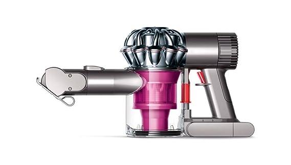 Dyson V6 Trigger Plus - Aspiradora de mano con 2 modos de aspiración, 350 W de potencia, 28/100 W de succión, color rosa y plata [Modelo 2015]
