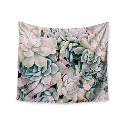 KESS InHouse Chelsea Victoria Succulent Blush Blue Pink Photography Wall Tapestry
