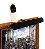 Cordless Picture Light With Remote Control-Color: Black - For pictures up to 3 feet wide- Safe for artwork - No UV and NO Heat - Solid Steel Frame 1.3 lbs - Dimmer included