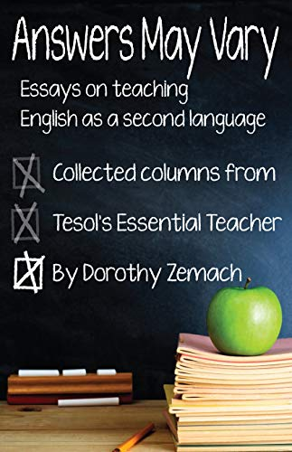 answers may vary essays on teaching english as a second language