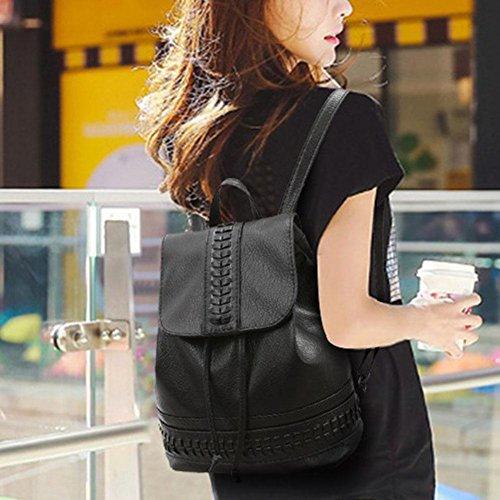 All Size Fits Domybest Black Black One Women Bag Leatherette Shoulder fFPxwq7FO