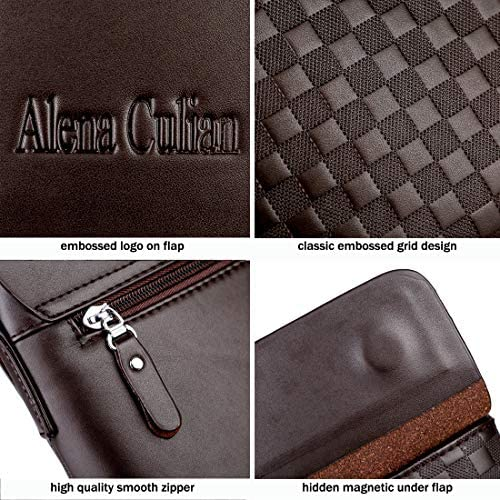 Classic Elegance Plaid Man Purse Business Case High-Capacity Leather Wallet