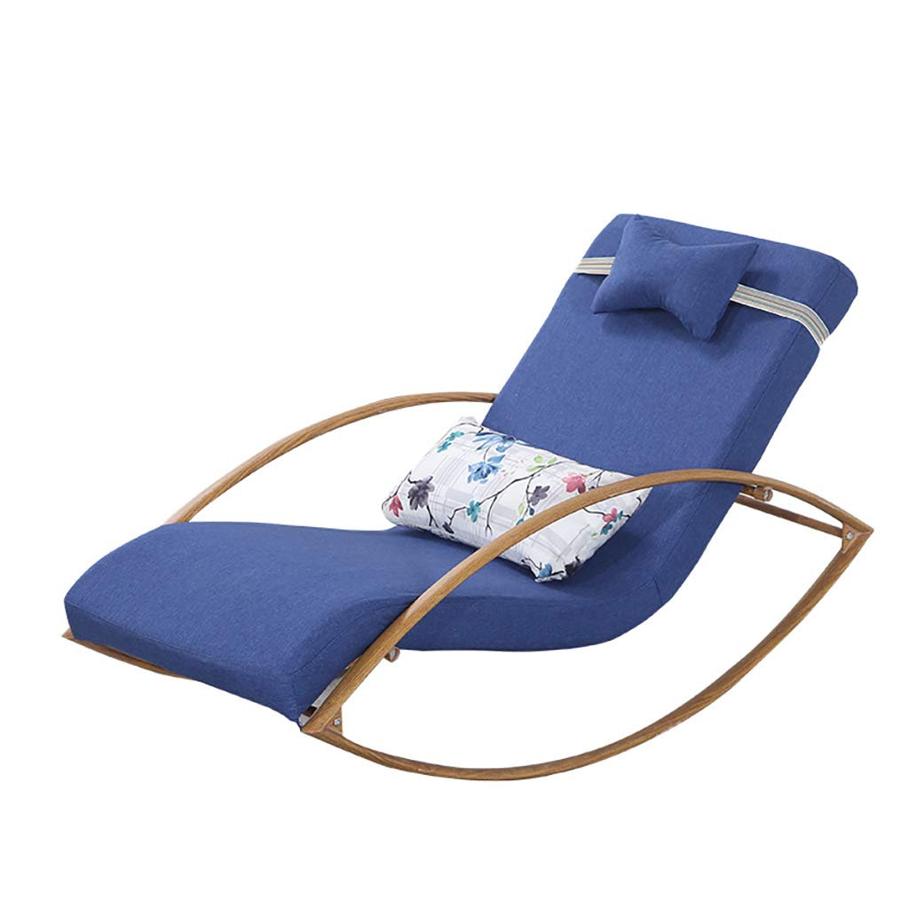 Sofa Rocking Chair Relaxing Recliner Leisure Armchair with Detachable Cotton Linen Cover,Steel Frame for Living Room Bedroom by WY rocking chair