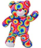 """Tie Dye Psychedelic Rainbow Recordable Talking 8"""" Hipster Teddy Bear"""