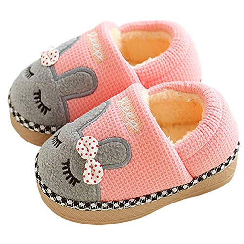SITAILE Cute Home Shoes, Kids Fur Lined Indoor House Slippers Bunny Warm Winter Home Slippers for Girls