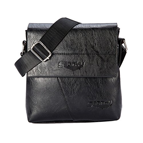 "Price comparison product image Shoulder Bag, MagicQueen Business Handbag Men's Bag Work Package 19.5cmx21.5cm/ 7.7""x 8.5"" (Black)"