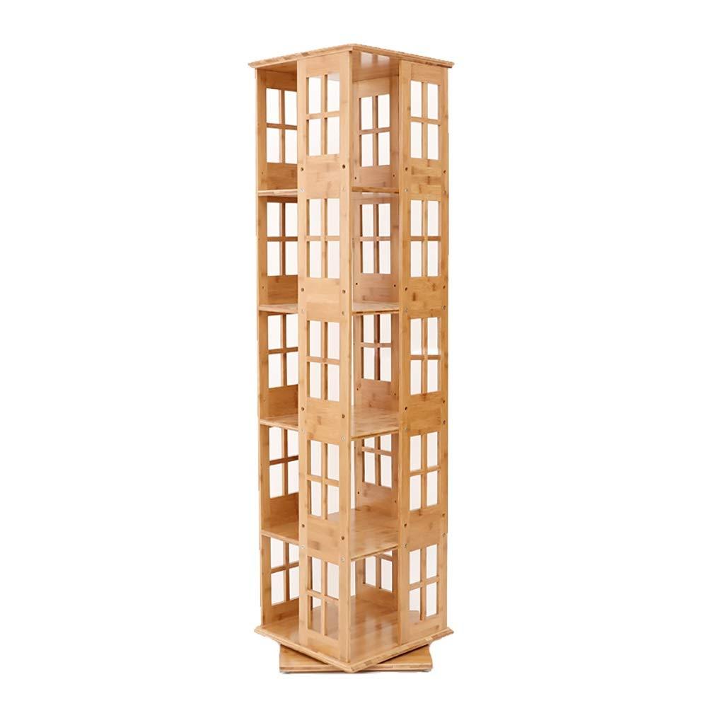 フロアスタンドシンプルな学生書棚360°回転竹製ブックラック子供用収納本棚 (色 : 5 layers)  5 layers B07R3H4MD8