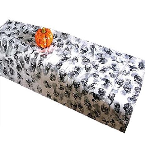 Mantel para Halloween de tela con calaveras. Calavera toallas Lale monstruos: Amazon.es: Hogar