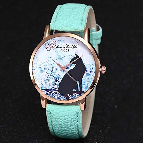 Reloj Moda para Mujer Pulsera del Reloj Metal Durable Brazalete De Reloj Bonito Cadena De Cuero Imprimiendo Elegante Superficie De Estampado PatróN Animal ...