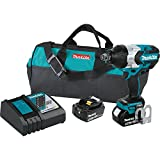 Makita XWT07T 5.0 Amp 18V LXT Lithium-Ion Brushless Cordless High Torque 3/4'' Sq. Drive Impact Wrench Kit w/ Friction Ring Anvil