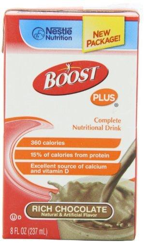 Boost Plus Rich Chocolate 8oz Brikpaks 27/Case (Nestles Boost)