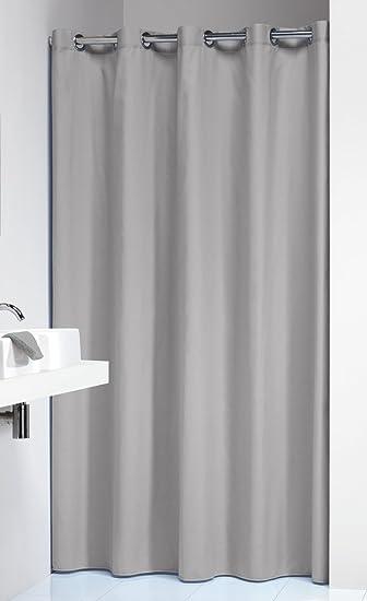 light gray shower curtain. Extra Long Hookless Shower Curtain 72 x 78 Inch Sealskin Coloris Light Gray  Cotton Amazon com