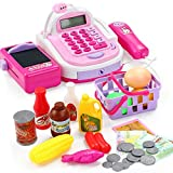 #9: Pretend & Play Multifunctional Supermarket Electronic Calculator Cash Register With Mic Speaker (A)