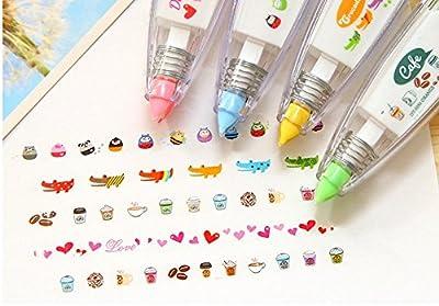 Eff-cientt 4pcs Korea Cute Novelty Sticker Machines?Decoration Tape