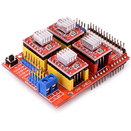 quimat arduino cnc kit with stepper motor cnc shield v3 0 uno r3 4 pcs a4988 driver nema. Black Bedroom Furniture Sets. Home Design Ideas