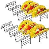 Taco Truck 4 Pack Taco Holder Stands | Food-grade Stainless Steel | Oven Safe, Dishwasher Safe | Taco Truck Restaurant Style Racks