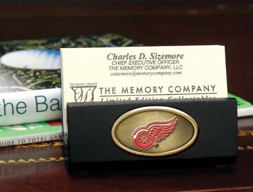 The Memory Company NHL Detroit Red Wings Official Black Business Card Holder, Multicolor, One Size from The Memory Company