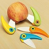 Cute Bird-shaped Folding Mini Ceramic Knife Kitchen Tool Vegetable Fruit Knife Random Color by Ozone48