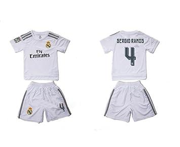 Generic Kid Real Madrid 2016 Fútbol jersey trajes casa 4 Sergio ...
