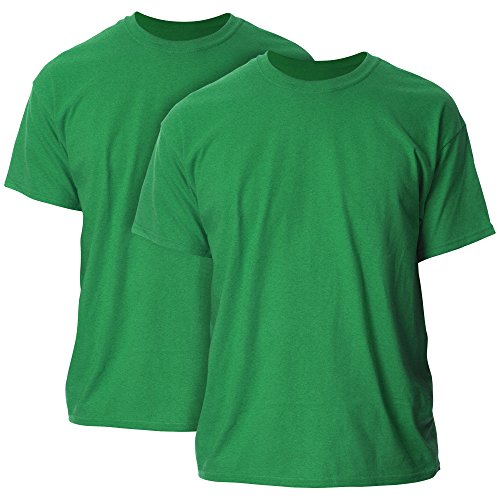 Gildan Men's Ultra Cotton Adult T-Shirt, 2-Pack, Antique Irish Green 2X-Large