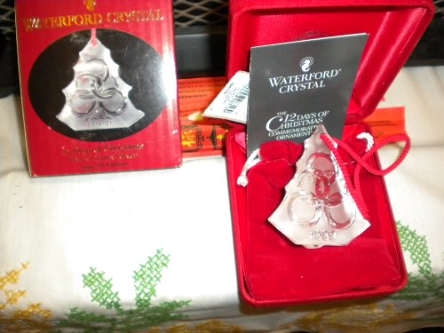 (Waterford Crystal 12 Days of Christmas 5 Golden Rings 1999 5th)