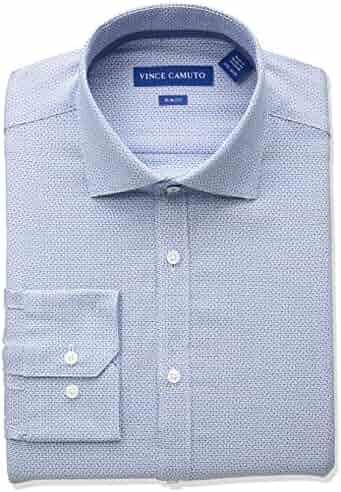 Vince Camuto Men's Slim Fit Jaquard Dress Shirt, Turquoise