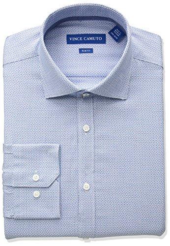 - VINCE CAMUTO Men's Slim Fit Spread Comfort Collar Dress Shirt, Turquoise, 15.5 32/33