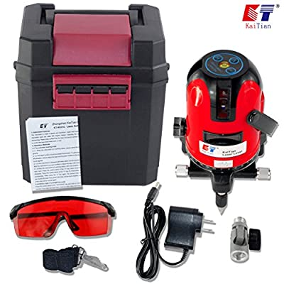 Kaitian KTM331 Red Beam and Point Rotary Lasers Cross Line Laser Level with Angle Adjustment Bracket