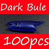 CUSHY Bimoo 3cm 0.7g Red/Dark Bule/Orange/Luminou Fih Head DIY abiki Rig Material Lure oft: Dark Bule 100pc