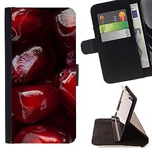 For HTC One Mini 2 M8 MINI Case , El amor de la cereza- la tarjeta de Crédito Slots PU Funda de cuero Monedero caso cubierta de piel