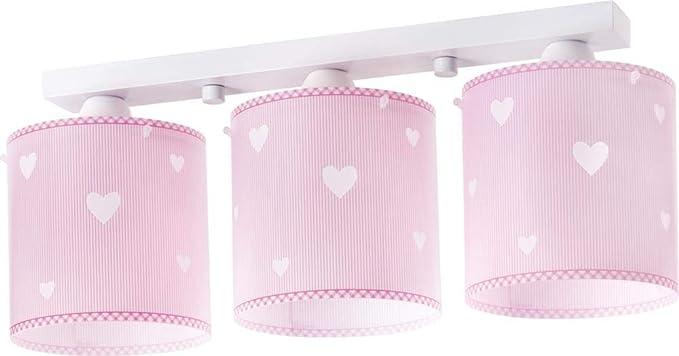 51 x 15 x 1 Dalber 62143 Schmetterlingen Deckenlampe 3-Flammige rosa Plastik