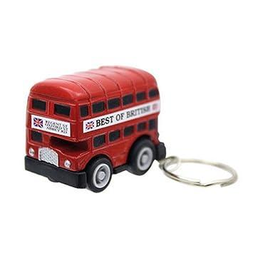 Amazon.com: Autobús de Londres llavero de metal: Toys & Games