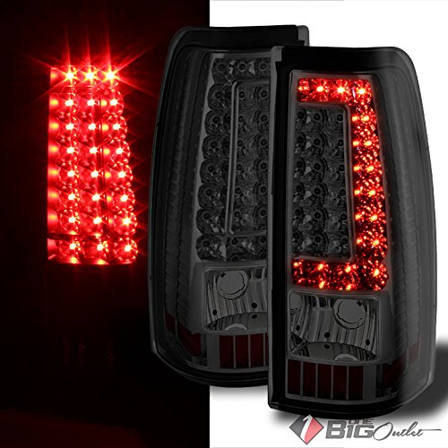2005 Smoked Led (Ver2 For 2003-2006 Silverado, 2005-2006 Sierra, 07 Classic Smoked LED Tail Lights Signal Pair Left + Right 2004 2005)