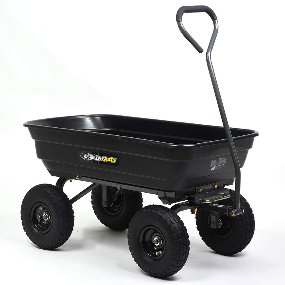 ゴリラカート ガーデンダンプカート(台車) ブラック B00DBPKV5U