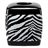 Creative Bath Products Zebra Safari Animal Print Tissue Box Cover