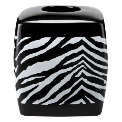 Tissue Box Cover Safari (Creative Bath Products Zebra Safari Animal Print Tissue Box Cover)