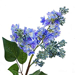 yanQxIzbiu Artificial Flowers, 1Pc Artificial Lilac Faux Silk Flowers Fake Flower for Garden Wedding Bouquet Party Home Cafe Decor 61