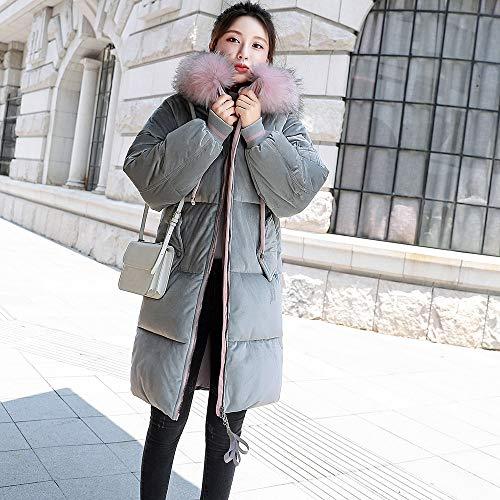 Cappotto Invernale Cotone Parka Piumino Cappuccio Jacket A Capispalla Moonuy Slim Donna Lungo Giacche Di Da Con Pelliccia Velluto Coste rq8ZwraF