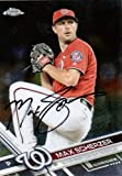 Max Scherzer autographed signed Topps auto card Washington Nationals COA - - (Near Mint Condition)